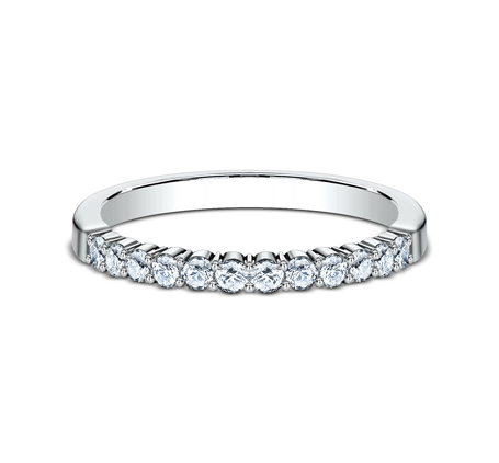 2MM WHITE GOLD SHARED PRONG DIAMOND BAND 552621W 2 - 2MM WHITE GOLD SHARED PRONG DIAMOND BAND 552621W