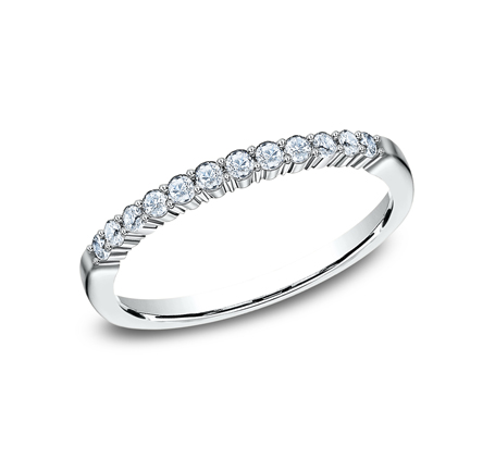2MM WHITE GOLD SHARED PRONG DIAMOND BAND 552621W - 2MM WHITE GOLD SHARED PRONG DIAMOND BAND 552621W