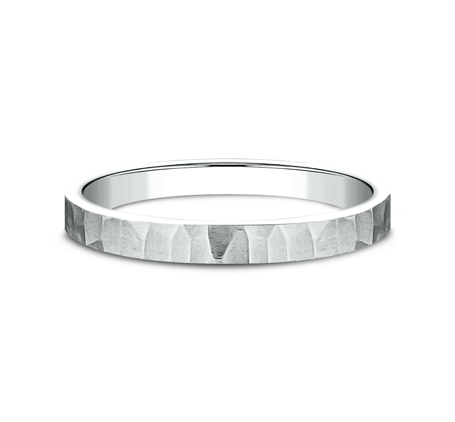 2MM WHITE GOLD STACKABLE BAND 492763W 2 - 2MM WHITE GOLD STACKABLE BAND 492763W