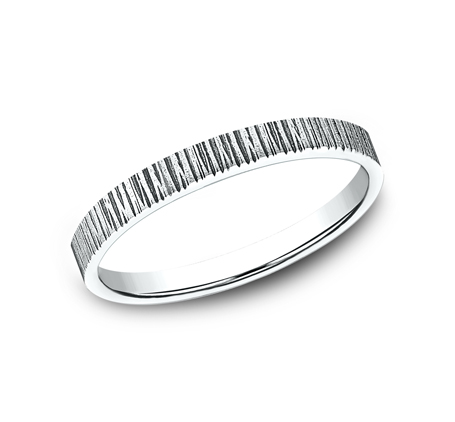 2MM WHITE GOLD STACKABLE BAND 492772W - 2MM WHITE GOLD STACKABLE BAND 492772W