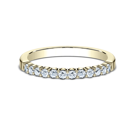2MM YELLOW GOLD SHARED PRONG DIAMOND BAND 552621Y 2 - 2MM YELLOW GOLD SHARED PRONG DIAMOND BAND 552621Y
