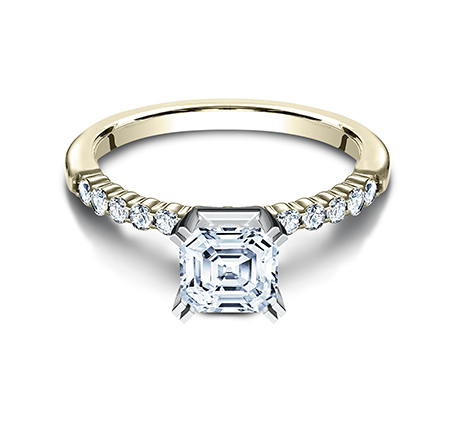 2MM YELLOW GOLD SHARED PRONG ENGAGEMENT SET SPA2 SPLSET Y 2 - 2MM YELLOW GOLD SHARED PRONG ENGAGEMENT SET SPA2-SPLSET-Y