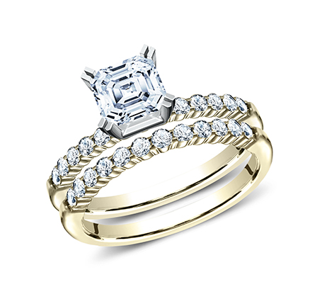 2MM YELLOW GOLD SHARED PRONG ENGAGEMENT SET SPA2 SPLSET Y - 2MM YELLOW GOLD SHARED PRONG ENGAGEMENT SET SPA2-SPLSET-Y