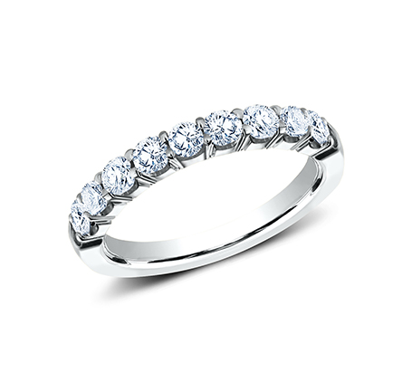 3MM PLATINUM CRESCENT SHARED PRONG DIAMOND BAND 5935643R - 3MM PLATINUM CRESCENT SHARED PRONG DIAMOND BAND 5935643R