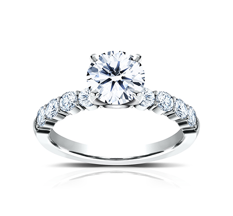 3MM PLATINUM SHARED PRONG ENGAGEMENT RING SPA8 LHRD100 PT 1 - 3MM PLATINUM SHARED PRONG ENGAGEMENT RING SPA8-LHRD100-PT