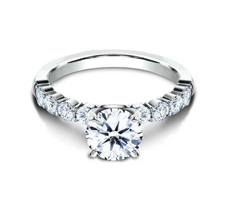 3MM PLATINUM SHARED PRONG ENGAGEMENT RING SPA8 LHRD100 PT 2 - 3MM PLATINUM SHARED PRONG ENGAGEMENT RING SPA8-LHRD100-PT