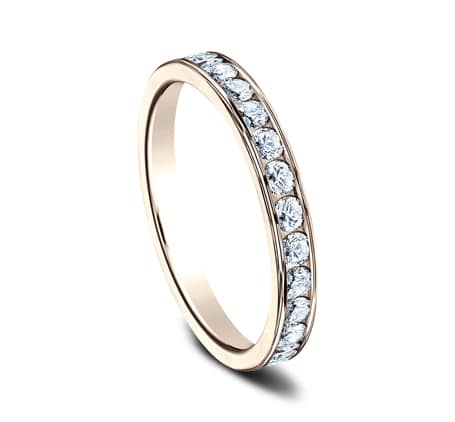 3MM ROSE GOLD CHANNEL SET DIAMOND BAND 513525R 1 - 3MM ROSE GOLD CHANNEL SET DIAMOND BAND 513525R