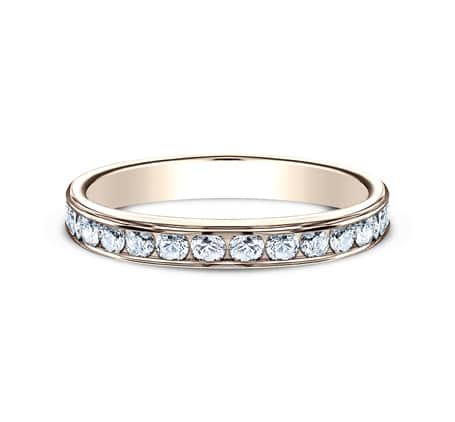 3MM ROSE GOLD CHANNEL SET DIAMOND BAND 513525R 2 - 3MM ROSE GOLD CHANNEL SET DIAMOND BAND 513525R