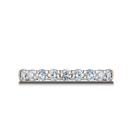 3MM ROSE GOLD CRESCENT SHARED PRONG DIAMOND BAND 5935643R 2 - 3MM ROSE GOLD CRESCENT SHARED PRONG DIAMOND BAND 5935643R