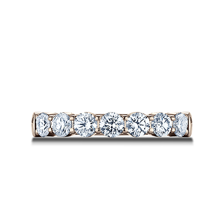 3MM ROSE GOLD CRESCENT SHARED PRONG DIAMOND BAND 5935645R 2 - 3MM ROSE GOLD CRESCENT SHARED PRONG DIAMOND BAND  5935645R