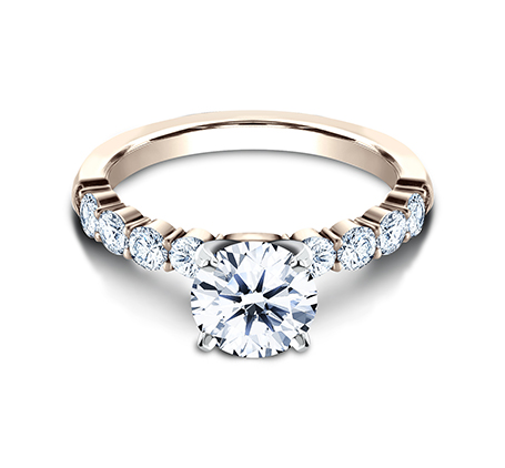 3MM ROSE GOLD SHARED PRONG ENGAGEMENT RING SPA8 LHRD100 R 2 - 3MM ROSE GOLD SHARED PRONG ENGAGEMENT RING SPA8-LHRD100-R