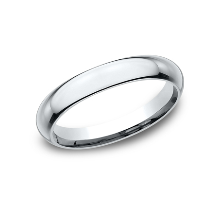3MM WHITE GOLD BAND HDCF130W - 3MM WHITE GOLD BAND HDCF130W