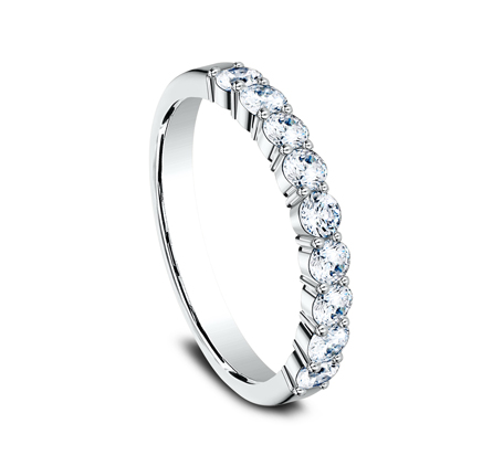 3MM WHITE GOLD SHARED PRONG DIAMOND BAND 5535922W 1 - 3MM WHITE GOLD SHARED PRONG DIAMOND BAND 5535922W
