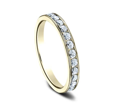 3MM YELLOW GOLD CHANNEL SET DIAMOND BAND 513525Y 1 1 - 3MM YELLOW GOLD CHANNEL SET DIAMOND BAND 513525Y