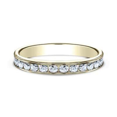 3MM YELLOW GOLD CHANNEL SET DIAMOND BAND 513525Y 2 400x400 - 3MM YELLOW GOLD CHANNEL SET DIAMOND BAND 513525Y