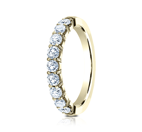3MM YELLOW GOLD CRESCENT SHARED PRONG DIAMOND BAND 5935643Y 1 - 3MM YELLOW GOLD CRESCENT SHARED PRONG DIAMOND BAND 5935643Y