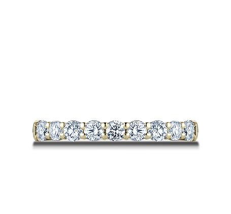 3MM YELLOW GOLD CRESCENT SHARED PRONG DIAMOND BAND 5935643Y 2 - 3MM YELLOW GOLD CRESCENT SHARED PRONG DIAMOND BAND 5935643Y