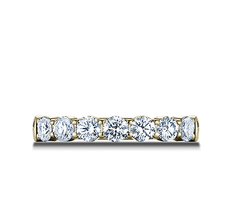 3MM YELLOW GOLD CRESCENT SHARED PRONG DIAMOND BAND 5935645Y 2 - 3MM YELLOW GOLD CRESCENT SHARED PRONG DIAMOND BAND 5935645Y