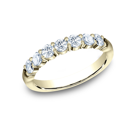 3MM YELLOW GOLD SHARED PRONG DIAMOND BAND 5535015Y - 3MM YELLOW GOLD SHARED PRONG DIAMOND BAND 5535015Y