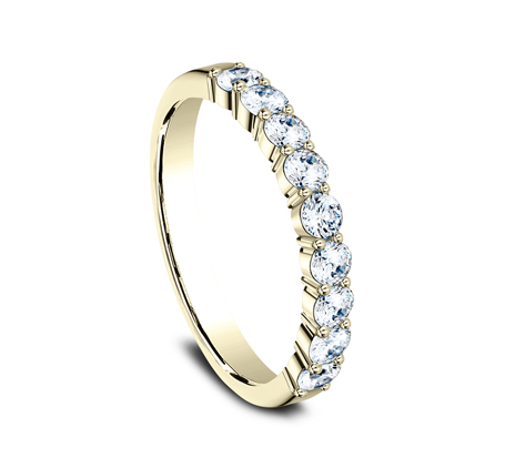 3MM YELLOW GOLD SHARED PRONG DIAMOND BAND 5535922Y 1 - 3MM YELLOW GOLD SHARED PRONG DIAMOND BAND 5535922Y