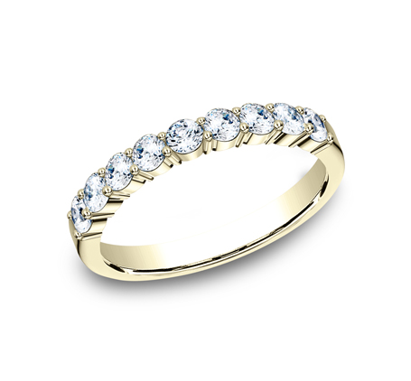 3MM YELLOW GOLD SHARED PRONG DIAMOND BAND 5535922Y - 3MM YELLOW GOLD SHARED PRONG DIAMOND BAND 5535922Y