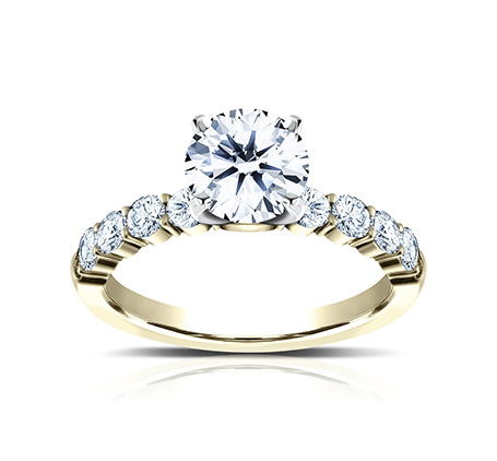 3MM YELLOW GOLD SHARED PRONG ENGAGEMENT RING SPA8 LHRD100 Y 1 - 3MM YELLOW GOLD SHARED PRONG ENGAGEMENT RING SPA8-LHRD100-Y