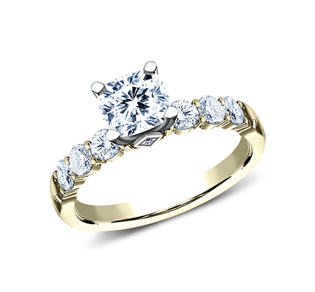 3MM YELLOW GOLD SHARED PRONG ENGAGEMENT SET SPA11 ACSET Y 1 - 3MM YELLOW GOLD SHARED PRONG ENGAGEMENT SET SPA11-ACSET-Y