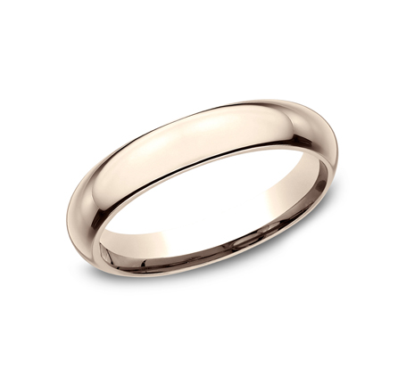 4MM ROSE GOLD BAND HDCF140R - 4MM ROSE GOLD BAND HDCF140R