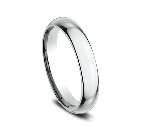 4MM WHITE GOLD BAND HDCF140W 1 - 4MM WHITE GOLD BAND HDCF140W