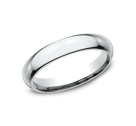 4MM WHITE GOLD BAND HDCF140W - 4MM WHITE GOLD BAND HDCF140W