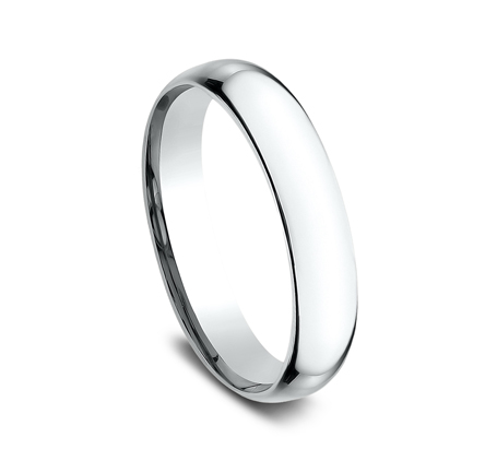 4MM WHITE GOLD BAND SLCF140W 1 - 4MM WHITE GOLD BAND SLCF140W