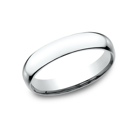 4MM WHITE GOLD BAND SLCF140W - 4MM WHITE GOLD BAND SLCF140W