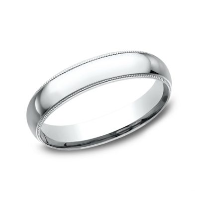 4MM WHITE GOLD COMFORT FIT BAND LCF340W 400x400 - 4MM WHITE GOLD COMFORT-FIT BAND LCF340W