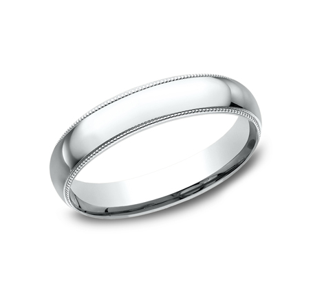 4MM WHITE GOLD COMFORT FIT BAND LCF340W - 4MM WHITE GOLD COMFORT-FIT BAND LCF340W