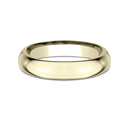 4MM YELLOW GOLD BAND HDCF140Y 2 - 4MM YELLOW GOLD BAND HDCF140Y