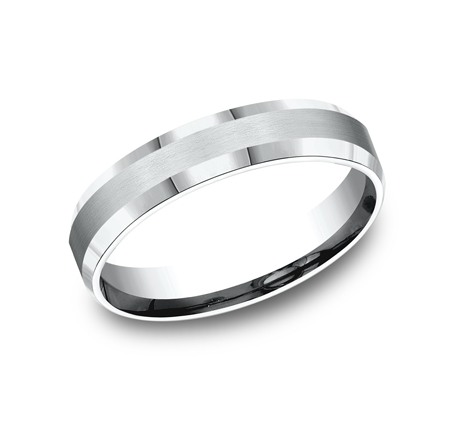 5MM ARGENTIUM SILVER COMFORT FIT BAND CF65416SV - 5MM ARGENTIUM SILVER COMFORT-FIT BAND CF65416SV