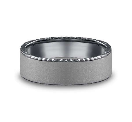 6.5MM COMFORT FIT SATIN FINISHED CARVED TANTALUM BAND CF716525TA 2 - 6.5MM COMFORT-FIT SATIN-FINISHED CARVED TANTALUM BAND CF716525TA