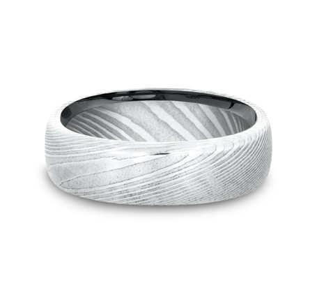 6.5MM DAMASCUS STEEL BAND EUCF165DS 2 - 6.5MM DAMASCUS STEEL BAND EUCF165DS