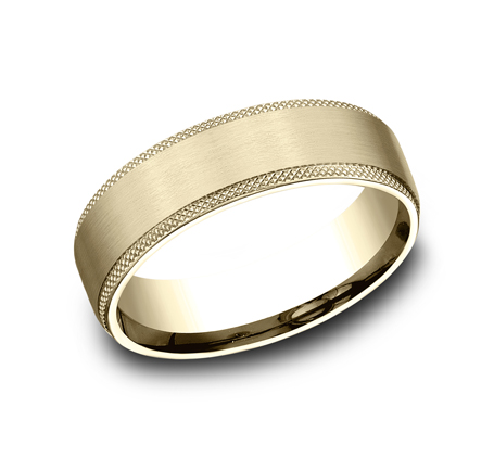 6.5MM YELLOW GOLD COMFORT FIT BAND - 6.5MM YELLOW GOLD COMFORT-FIT BAND CF4965749Y