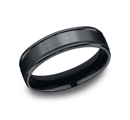 6MM CERAMIC COMFORT FIT SATIN FINISHED BAND RECF7602SCM - 6MM CERAMIC COMFORT-FIT SATIN-FINISHED BAND RECF7602SCM