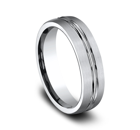 6MM COBALT COMFORT FIT SATIN FINISHED BAND CF56411CC 1 - 6MM COBALT COMFORT-FIT SATIN-FINISHED BAND CF56411CC