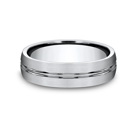 6MM COBALT COMFORT FIT SATIN FINISHED BAND CF56411CC 2 - 6MM COBALT COMFORT-FIT SATIN-FINISHED BAND CF56411CC