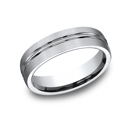 6MM COBALT COMFORT FIT SATIN FINISHED BAND CF56411CC - 6MM COBALT COMFORT-FIT SATIN-FINISHED BAND CF56411CC