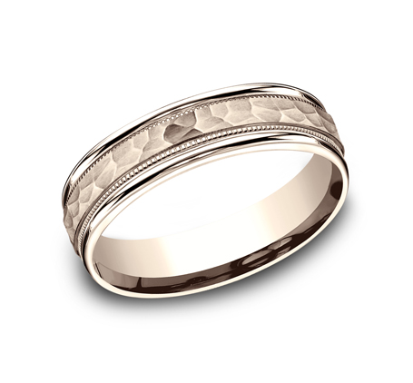6MM COMFORT FIT CARVED DESIGN BAND CF156309R - 6MM COMFORT-FIT CARVED DESIGN BAND CF156309R