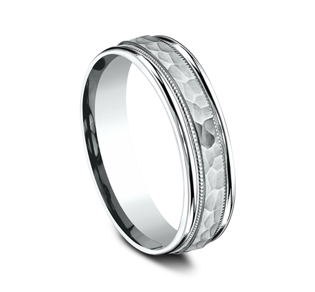6MM COMFORT FIT CARVED DESIGN BAND CF156309W 1 - 6MM COMFORT-FIT CARVED DESIGN BAND CF156309W