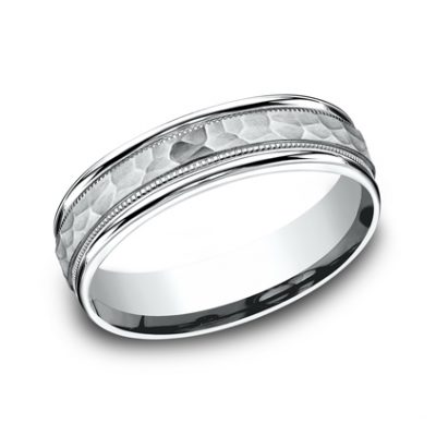 6MM COMFORT FIT CARVED DESIGN BAND CF156309W 400x400 - 6MM COMFORT-FIT CARVED DESIGN BAND CF156309W