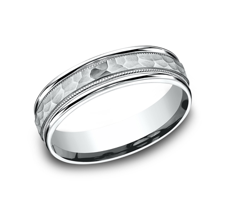 6MM COMFORT FIT CARVED DESIGN BAND CF156309W - 6MM COMFORT-FIT CARVED DESIGN BAND CF156309W