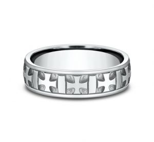 6MM COMFORT FIT CARVED DESIGN BAND CF56401W 2 300x278 - 6MM COMFORT-FIT CARVED DESIGN BAND CF56401W 2