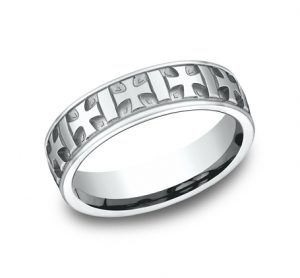 6MM COMFORT FIT CARVED DESIGN BAND CF56401W 300x278 - 6MM COMFORT-FIT CARVED DESIGN BAND CF56401W