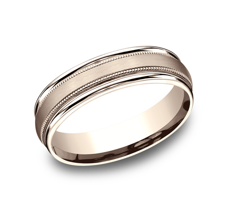 6MM COMFORT FIT CARVED DESIGN BAND RECF7601SR - 6MM COMFORT-FIT CARVED DESIGN BAND RECF7601SR